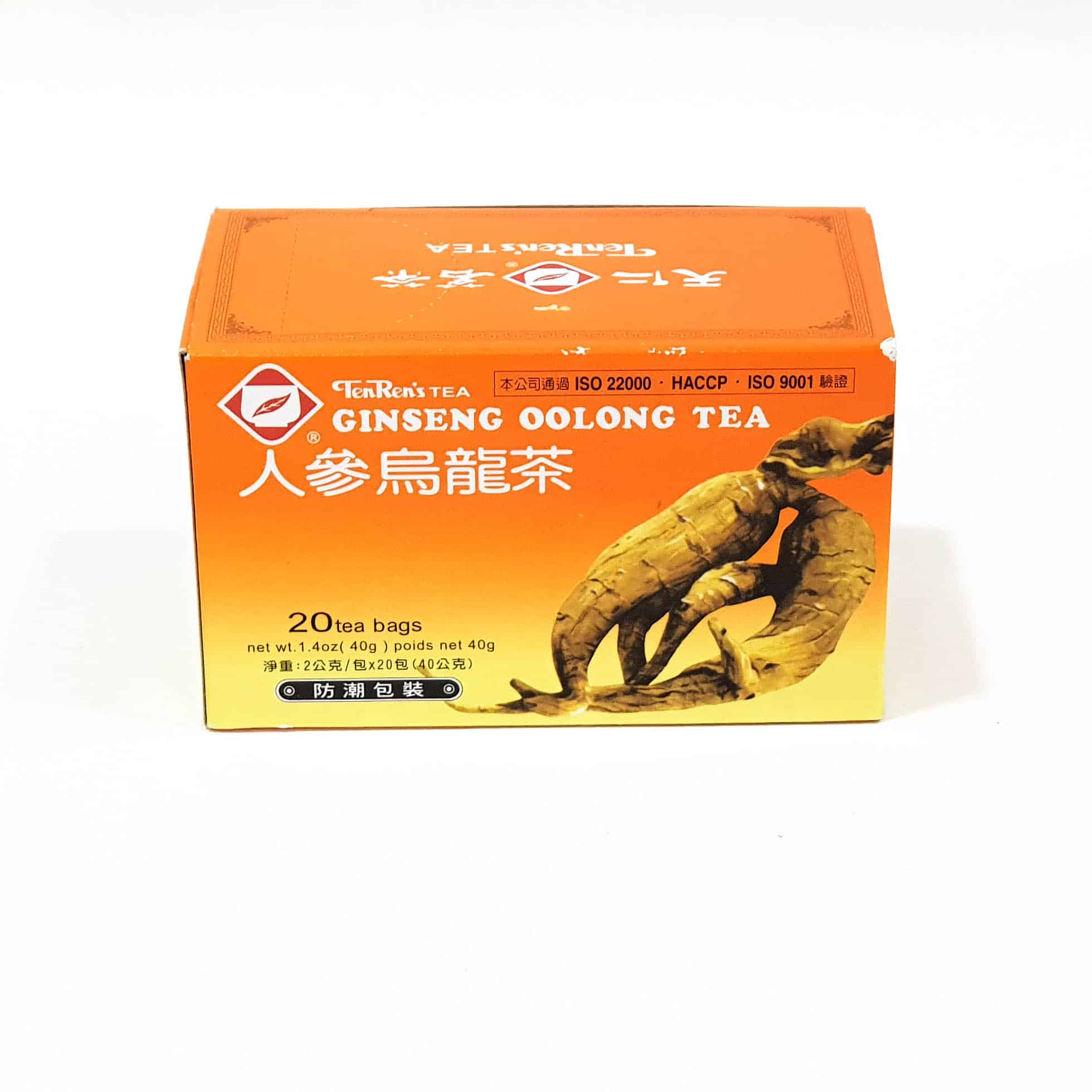 Ginseng Oolong Tea Bags (20 pk)