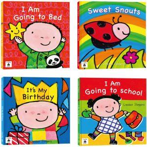 寶寶的第一套英文繪本翻翻書:I Am Going to Bed+I Am Going to School+It's My Birthday+Sweet Snouts